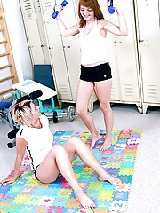Two lesbians having fun with their horny sporting pictures