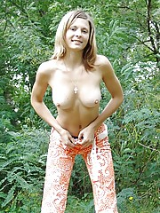 Brooke has some nice soft boobies with small nipples watch how they hang when she leans over very sexy