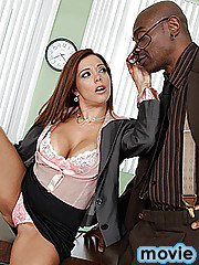What do you do when you are a sexy, slut of a lawyer who has to defend a dick chopping psycho? Pray that the prosecution likes big tits, wet juicy pussy and enjoys having his cock sucked in exchange for a plea bargain!