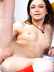 Dazzling Nubile Jaiden removes all except for a striking red socks and goes horny all the way