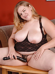 Young two-hundred-pound sweetie takes panties off
