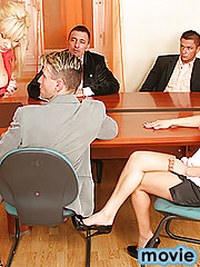 Mrs Lea Lexis is in charge of motivating a team of workers at ACME Sex Toys Inc. Her theory is that to have the sales go up her employees need to eat, sleep and breathe sex. Her motivational skills were no challenge to the office because she ends up getti