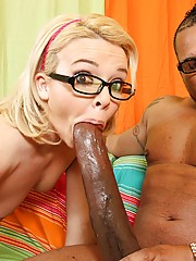 Sexy slut from library gets violated by 14 inches of black anger cock!