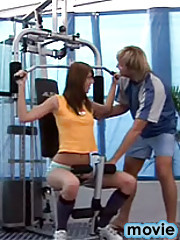 A healthy work out for any hot and horny teenager at the gym