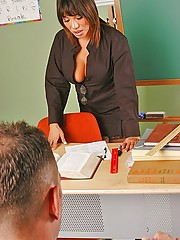 Busty teacher AVa getting nailed by student