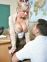 Kate Frost gets physical with students big hard dick