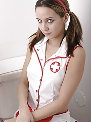 This sexy nurse will make you feel good!