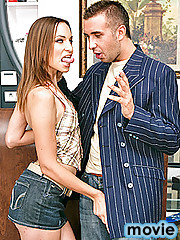 Working at a clothing store can be really boring. But when you run into an old high school bully, things get interesting. Amber Rayne was ridiculed by this slut bitch a lot in high school. Amber will do anything to get her back. So when the bitch leaves,