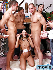 Young willing girl celebrating her birthday with hard cocks