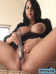 Julie plays with her sweet wet pussy
