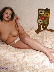 BBW posing in white panties