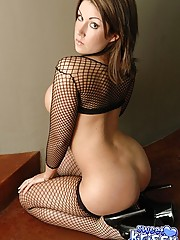 Krissy in black fishnet