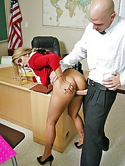 Busty student Carmel Moore getting fucked by teacher