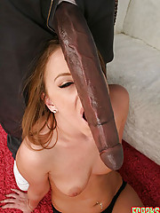 licking and riding huge black cock cowgirl