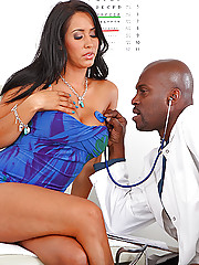 Isis goes to Dr. Steele to get a certain problem fixed... it seems she's having difficulty cumming. The good doctor knows how to cure all her needs! An 11 inch dose of black cock solves all her problems and has her soaked inside and out. Good thing all he