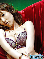 Japanese girl in sexy lingerie plays with her snorring toy