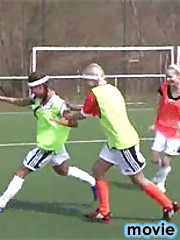 Three lovely teens toying eachothers pussy after soccer
