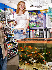 The guys around the neighborhood have a weakly show at the local pet store. They are constantly asking for items where Lexi has to bend over, stretch up and even lean into the fish tank. Johnny thinks these guys are trying to take advantage of this innoce