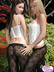 Kate & Karen showing off their asses