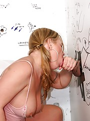 Thick whore loves anonymous gloryhole cock to fuck wild