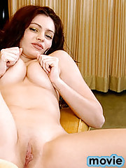 Seductive babe jolie fingers her wet pussy lips