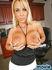12 pics and 1 movie of Holly from Big Tits Boss