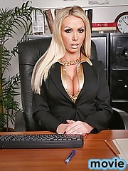 12 pics and 1 movie of Nikki from Big Tits Boss