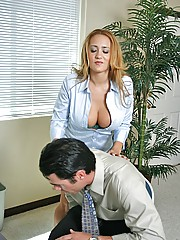 Slutty Teacher Trina Michaels gets pussy educated by big cock