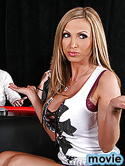 Welcome to the Cock of Truth! A show where we reveal the In's and Out's of one lucky sexy girl. This week Nikki Benz is on the couch. She will answer our questions and reveal her biggest secrets live on set. Let's see if she will be able to lie in front o