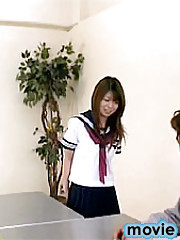 Cute Japane teen girl gets fucked hard during detention